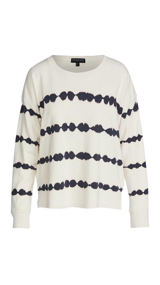 PJ Salvage Dip Dye Sweatshirt in ivory