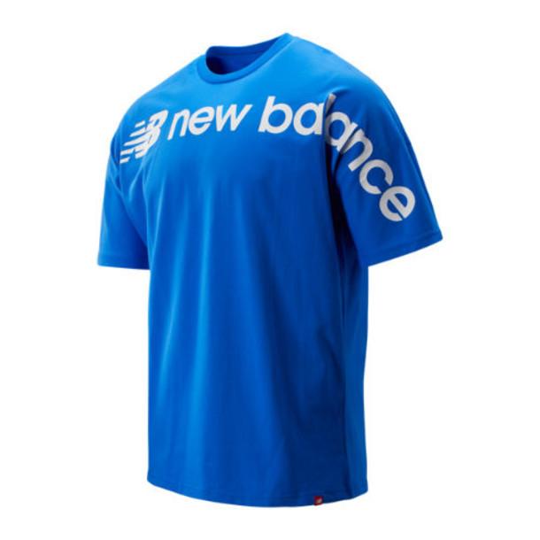 New Balance 93514 Men's Sport Style Optiks Oversized Tee - Blue (MT93514VCT)
