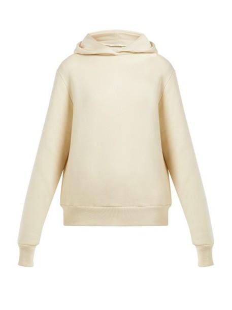 The Row - Wren Hooded Cotton Sweatshirt - Womens - Cream