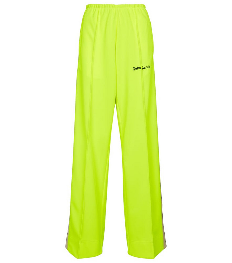 Palm Angels Wide-leg sweatpants in yellow