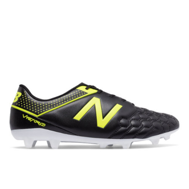 New Balance Visaro Liga Full Grain FG Men's Soccer Shoes - Black/Yellow (MSVRLFBF)