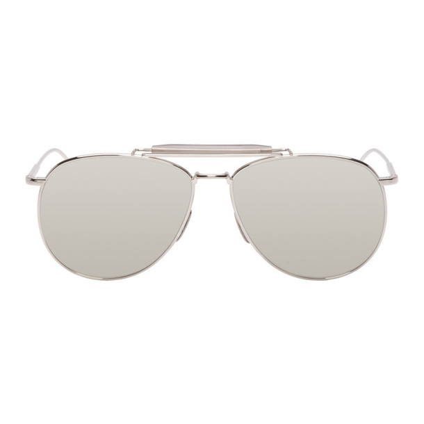 Thom Browne Silver Limited Edition TB-015 Sunglasses