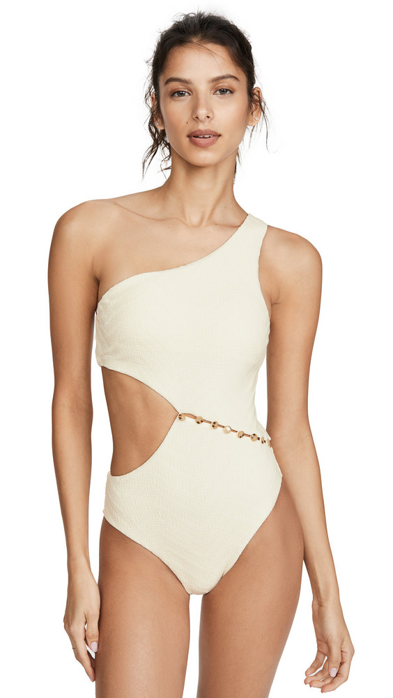Red Carter Peri One Piece Swimsuit in ivory