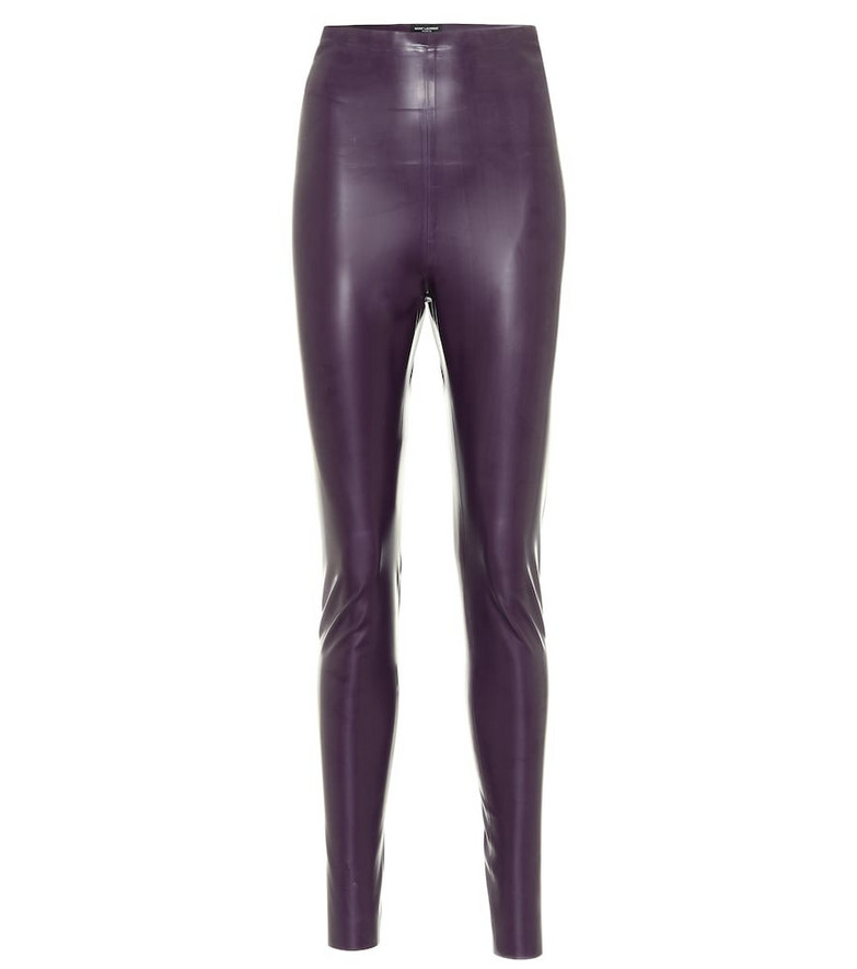 Saint Laurent Latex leggings in purple