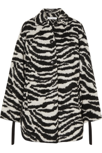 IRO - Bera Oversized Zebra-print Brushed-felt Jacket - Black
