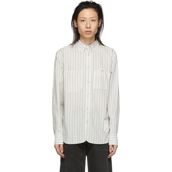 rag and bone rag & bone White & Navy Stripe Levine Shirt
