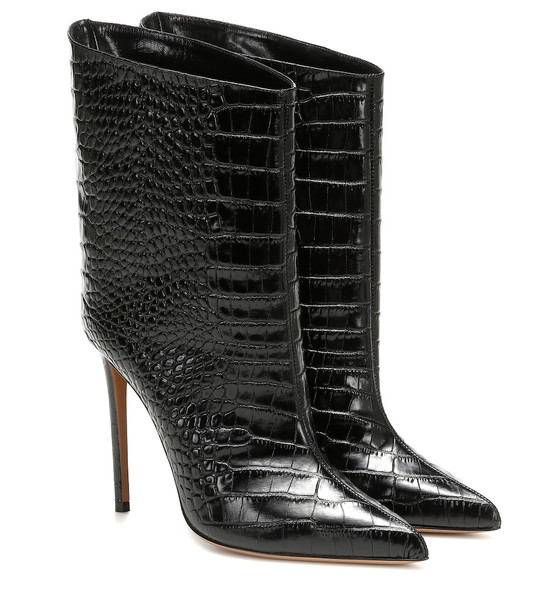 Alexandre Vauthier Alex Low leather ankle boots in black