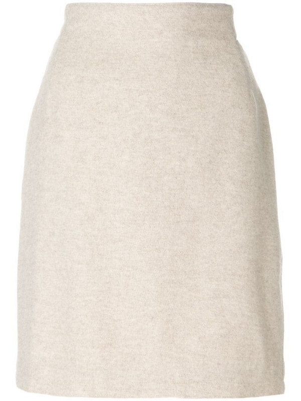 Versace Pre-Owned pencil skirt in neutrals