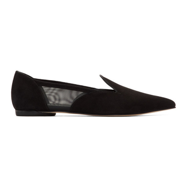 Repetto Black Suede Manet Loafers