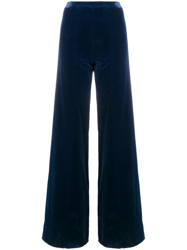 Emanuel Ungaro Pre-Owned high rise flared trousers in blue
