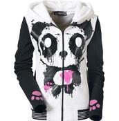 jacket,panda,pandas,emo,scene,black,white,pink,cute,dark,kawaii