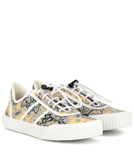 Etro Paisley sneakers in yellow