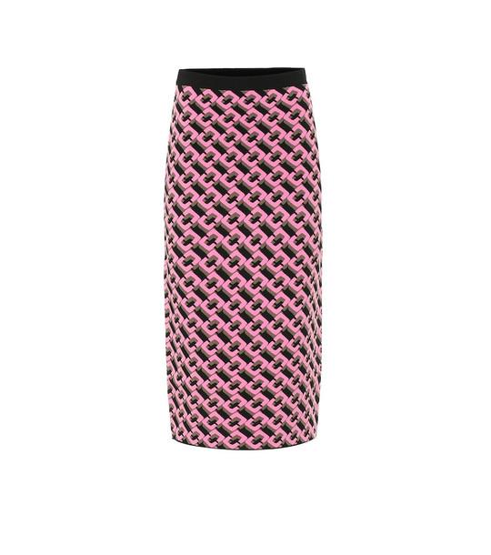 Diane von Furstenberg Aisha jacquard knit midi skirt in pink