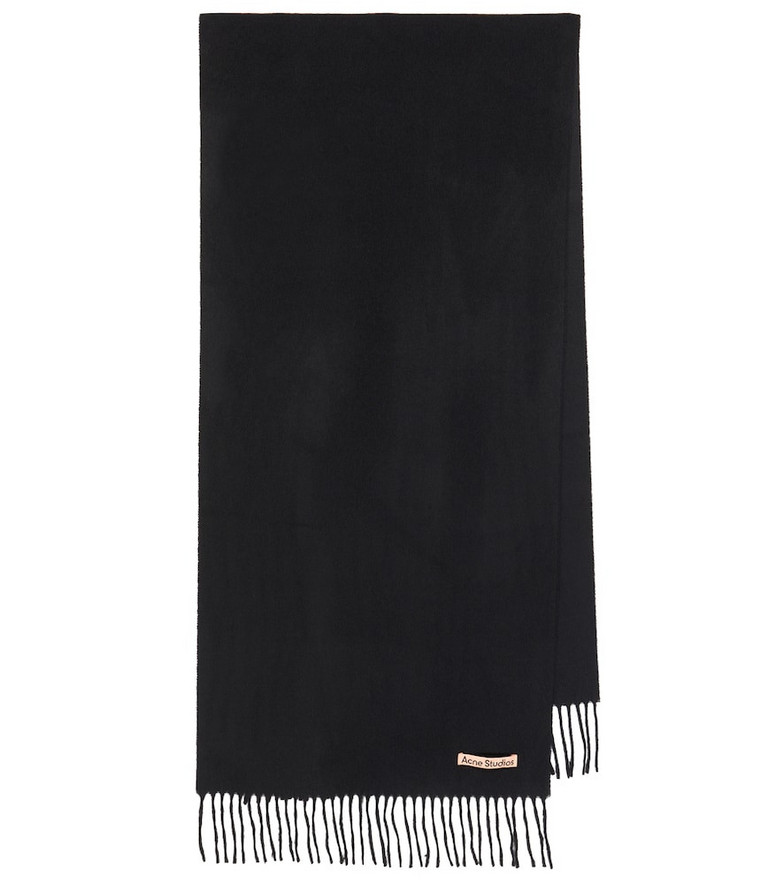 Acne Studios Cashmere fringe scarf in black