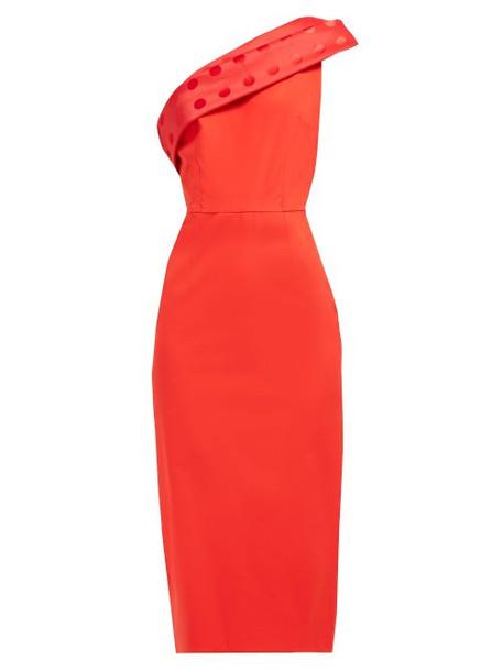 Emilio De La Morena - Tasman Polka Dot Trim Dress - Womens - Red