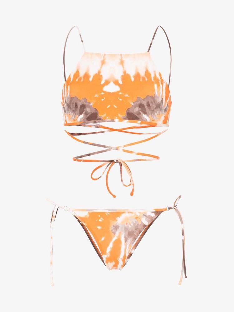 Ack Filo tie-dye bikini in orange