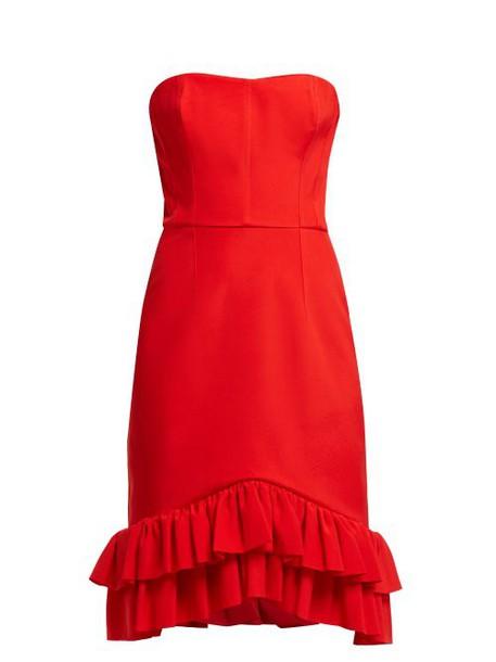 Emilio De La Morena - Coretta Ruffled Cocktail Dress - Womens - Red