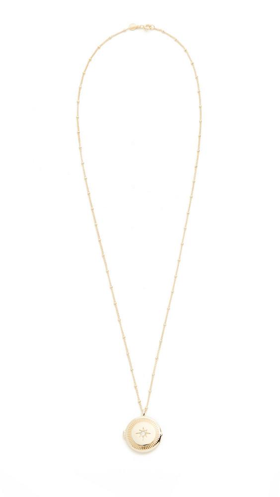 Gorjana Stellar Locket Necklace in gold / yellow