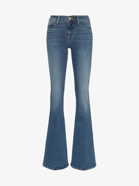 Frame Denim FRAME Le High Flare Jeans in blue