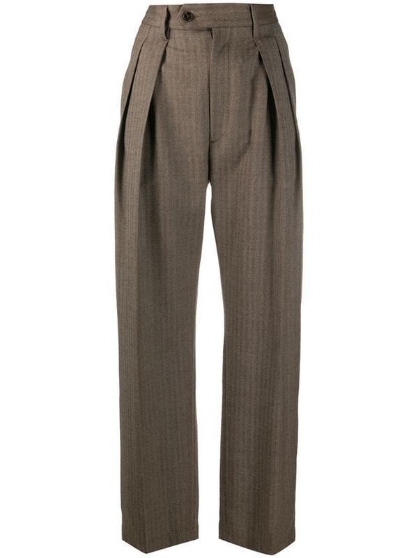 Barena high-waisted tailored trousers in brown