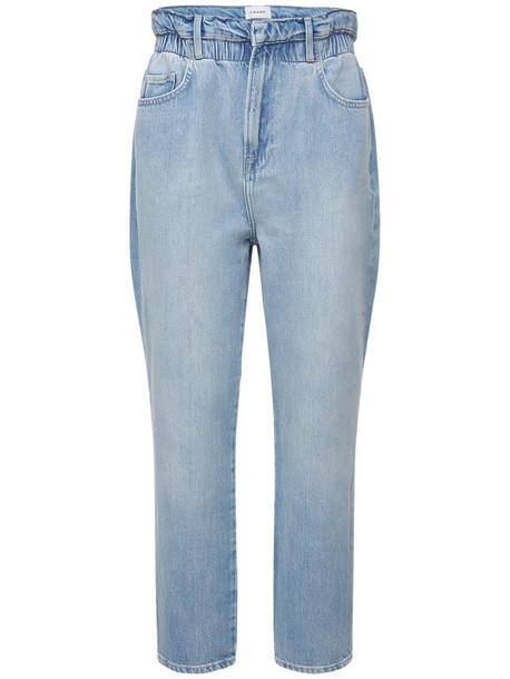 FRAME Elastic Waist Denim Jeans in blue