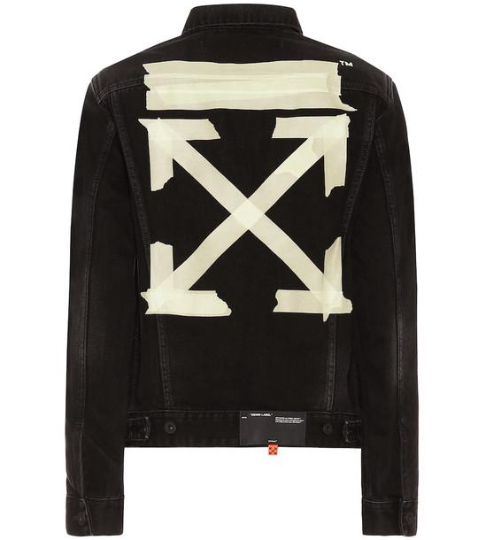 Off-White Denim jacket in black