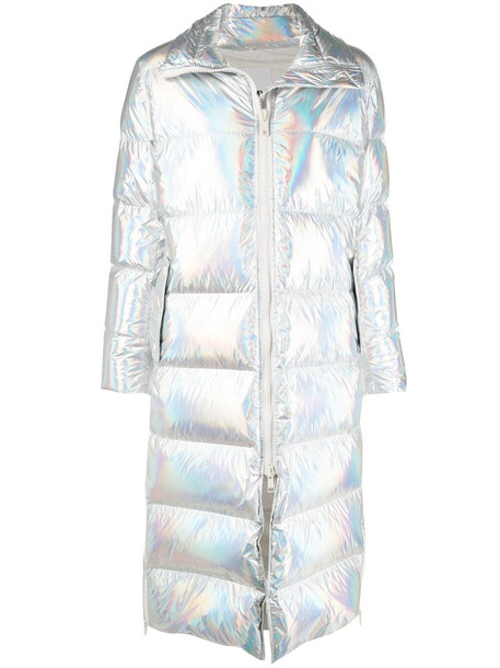 Yves Salomon Army long metallic puffer coat - B2397