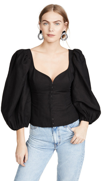 Mara Hoffman Eliana Top in black