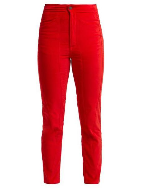 Aries - Velvet Trousers - Womens - Red
