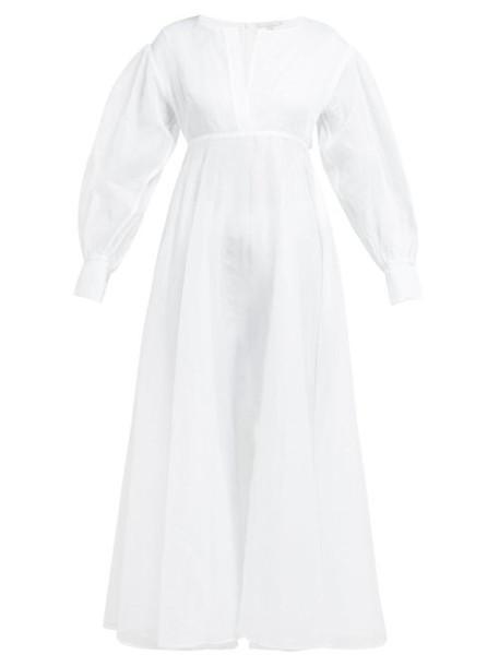 White Story - Belva Cotton Organza Maxi Dress - Womens - White