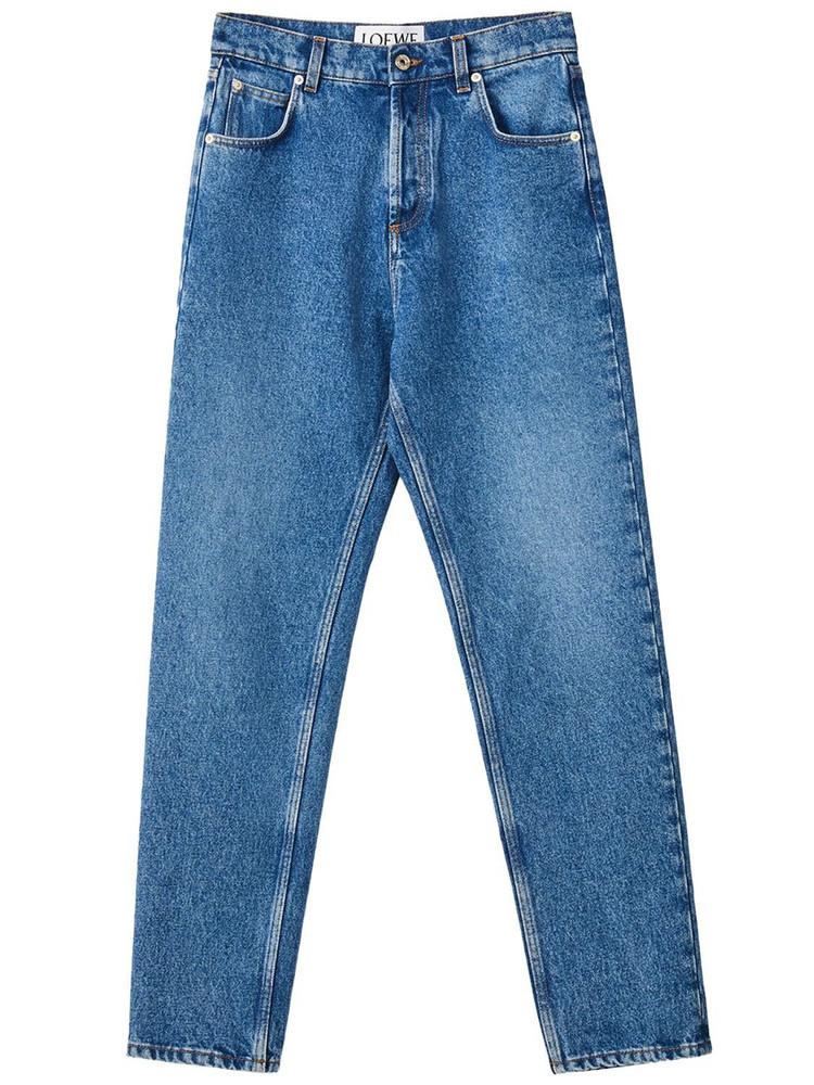 LOEWE Organic Cotton Denim Jeans W/logo Pocket