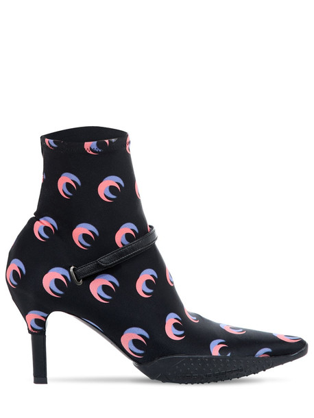 MARINE SERRE 50mm Moon Shadow Print Neoprene Boots in black / pink