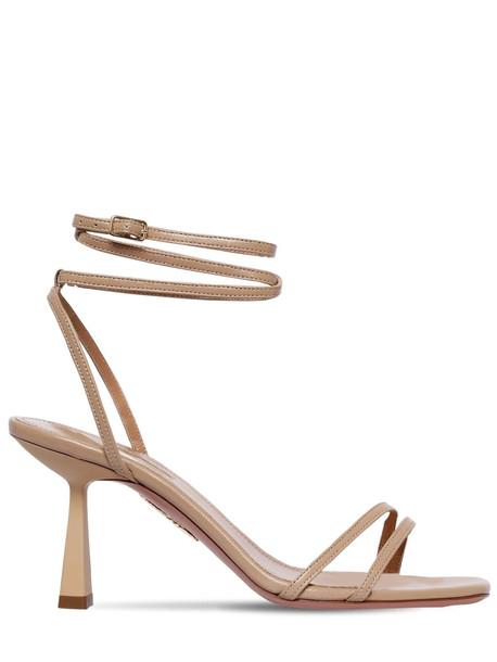 AQUAZZURA 75mm Isabel Leather Sandals