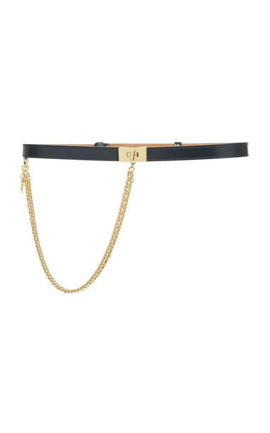 Givenchy Chain-Embellished Leather Belt Size: 65 cm