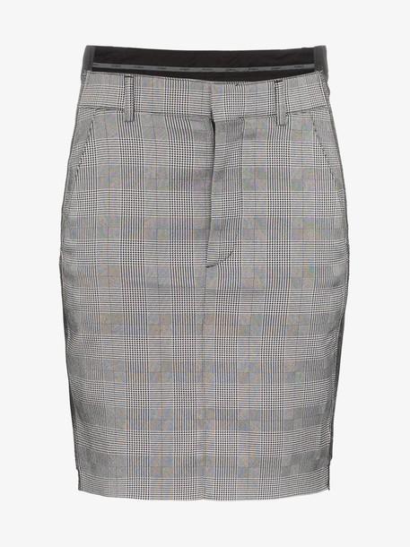 Vetements check print fitted mini skirt