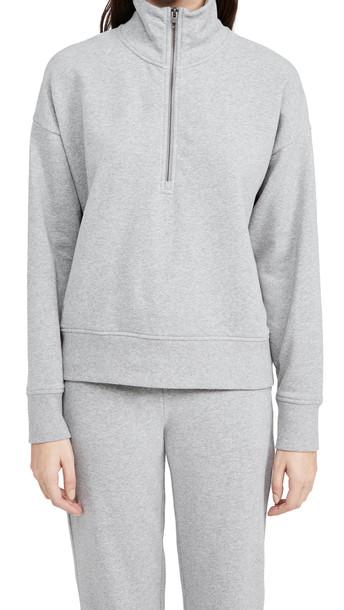 Vince Half Zip Pullover in grey