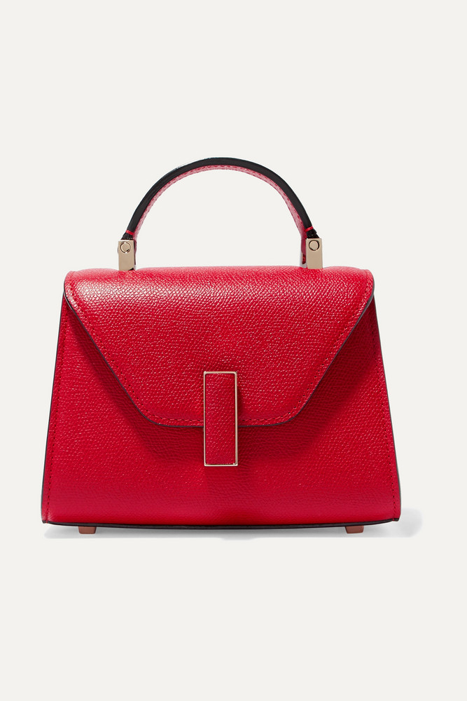 VALEXTRA - Iside Micro Textured-leather Shoulder Bag - one size in red