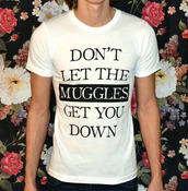 top,harry potter,harry potter and the deathly hallows,harry potter tshirt,quote on it,meme,movies