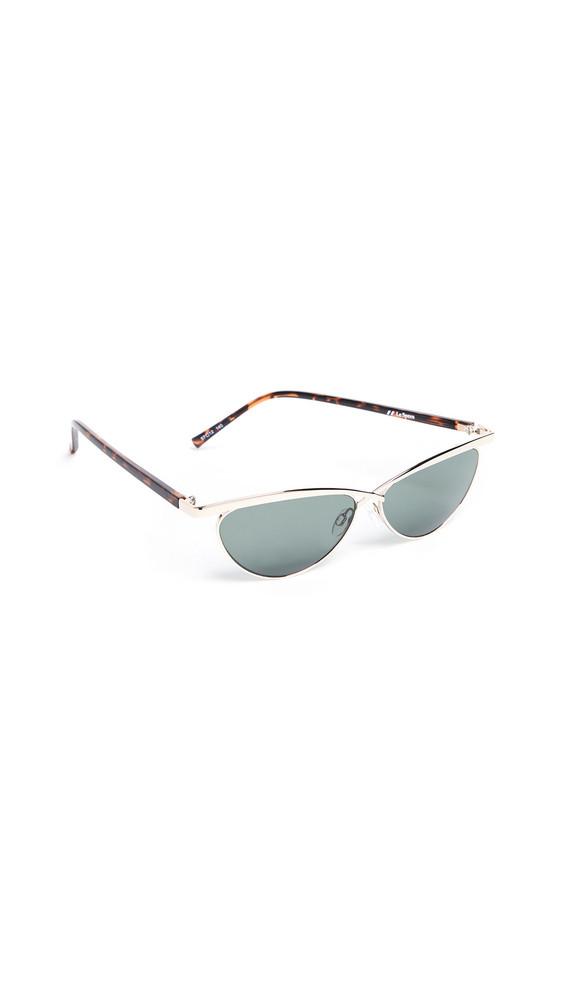 Le Specs Teleport Ya Sunglasses in gold / khaki