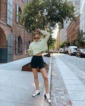 sweater,activewear,shorts,sportswear,sportswear  top,sneakers