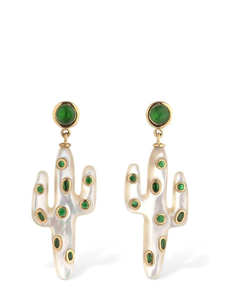 YVONNE LEON PARIS 18kt Cactus Earrings in green