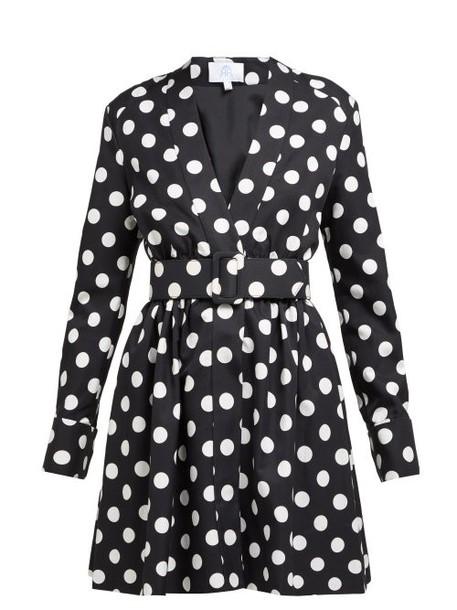 Rebecca De Ravenel - Polka Dot Cotton Blend Dress - Womens - Black White