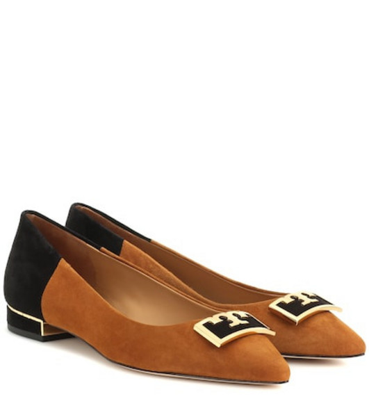 Tory Burch Gigi suede ballet flats in brown