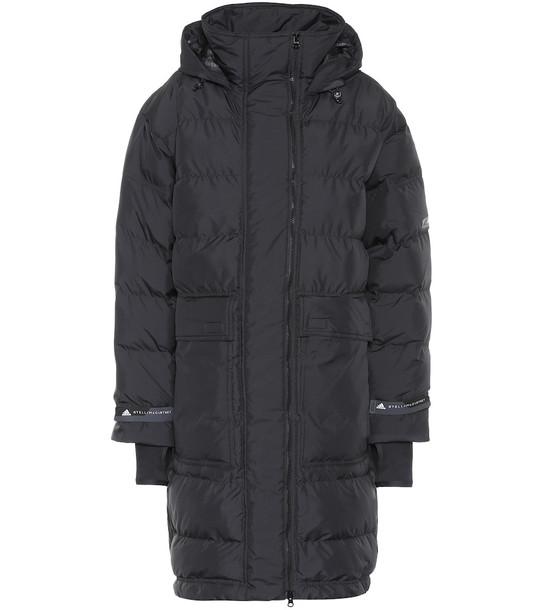 Adidas by Stella McCartney Long puffer jacket in black