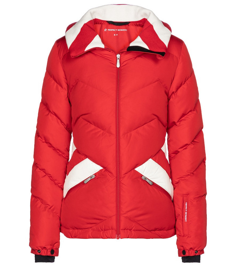Perfect Moment Bergen Duvet down ski jacket in red