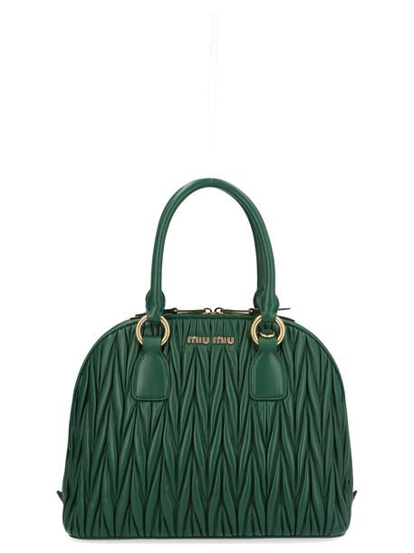 Miu Miu bowling Bag in green