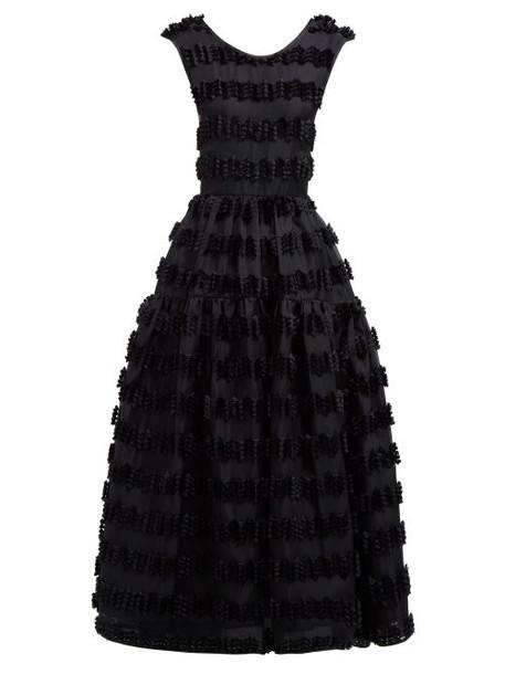 Cecilie Bahnsen - Ruth Fil Coupé Organza Gown - Womens - Black