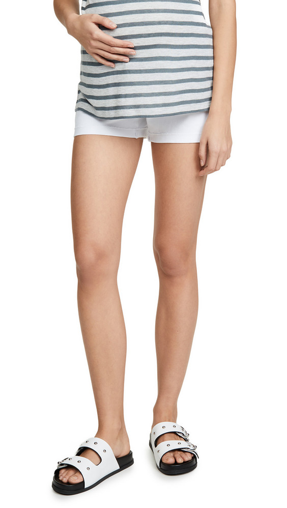 PAIGE Jimmy Jimmy Maternity Shorts in white