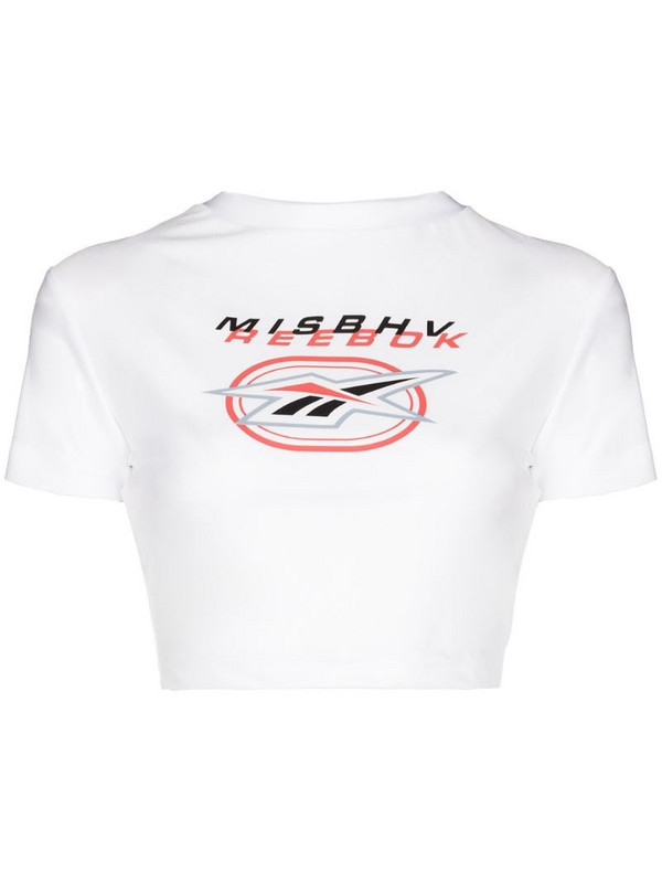 MISBHV X Reebok cropped T-shirt in white