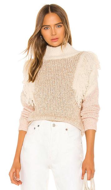 Rebecca Taylor Fringe Pullover in Cream